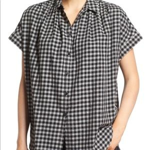 NWT Madewell Courier Cotton Button Up Top